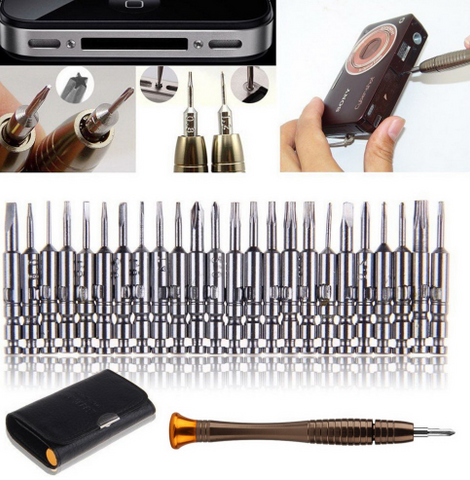 1 Set 25 in 1 Torx Screwdriver Repair Tool Set For iPhone Cellphone Tablet PC
