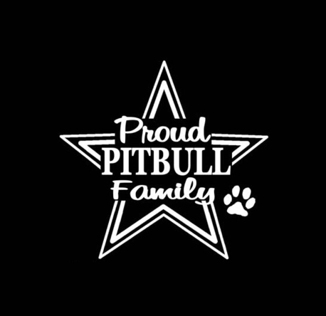 10.6cm*10.2cm Creative Dog Paw Car Stickers PITBULL FAMILY PROUD Personality Body Stickers