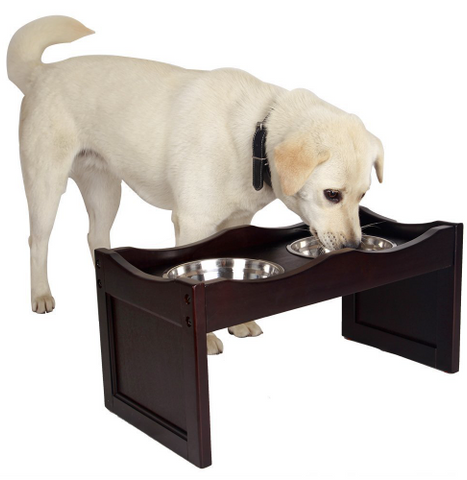 Elevated Pet Feeder, Dog Feeder For Medium Dog, 2 Stainless Steel Bowls Included, - Factory 46