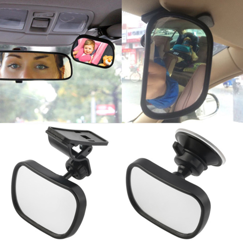 Universal Car Rear Seat View Mirror Baby Child Safety With Clip and Sucker - Factory 46