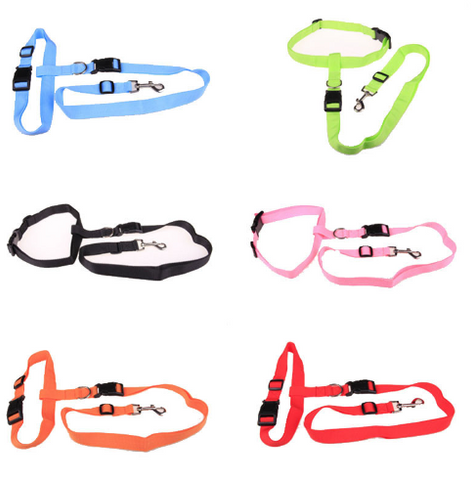 Waist pet dog leash running jogging dog lead collar sport adjustable walking leash - Factory 46 - 1