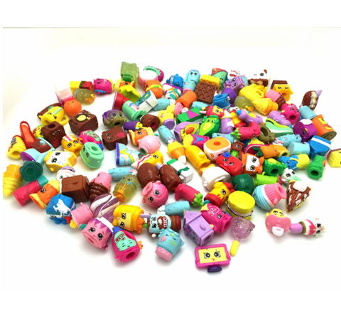 10PCS/Lot Shopkins Toys Rubber Material Action Toy FiguresToy Boy And Girls Change Shopkins Season 1 2 3 Send Random