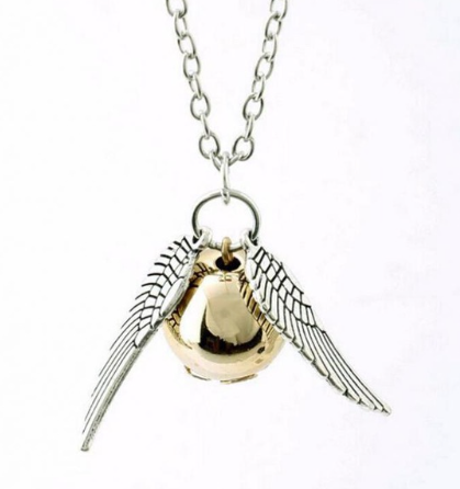 the Deathly Hallows necklace Snitch Harry Potter