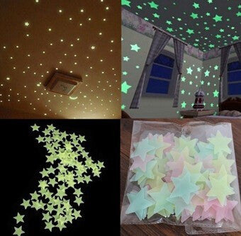 100pcs Wall Stickers Decal Glow In The Dark Baby Kids Bedroom Home Decor - Factory 46