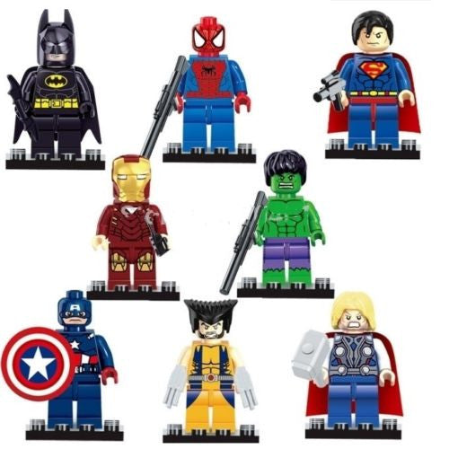 Super Heroes Series 8 Pcs Set Action Mini figures Compatible With Lego - Factory 46