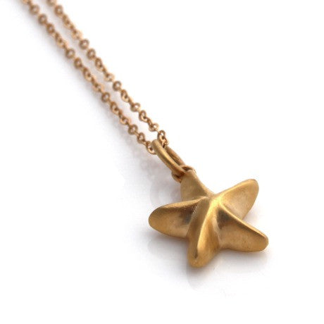 Louise Douglas Jewellery - Mini Starfish Gold Necklace