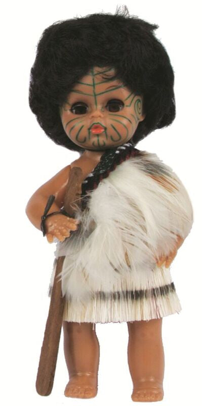 Parrs Maori Warrior Doll in Feather Cloak- 17cm