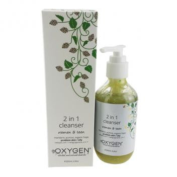 Oxygen 2 in 1 Gel Cleanser - Women and Teen 200mls