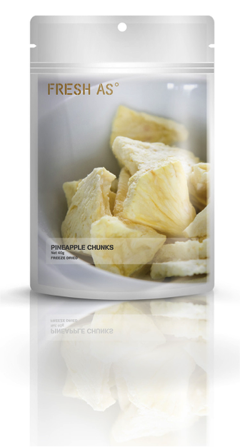 Fresh As Pineapple Chunks - freeze dried 40g