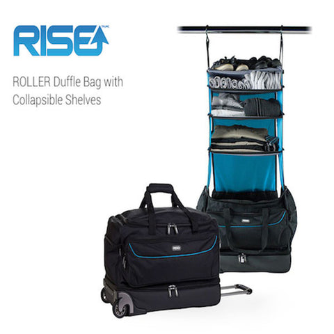 RISE ROLLER Duffle Bag with Collapsible Shelves
