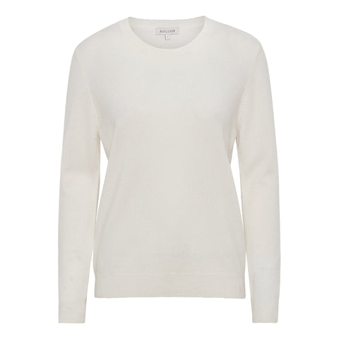 NEWS Classic cashmere O-neck sweater - Oatmilk