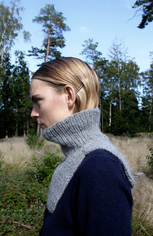 Wool Neck Warmer - Grey melange