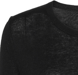 Silk/Cashmere O-neck - Black