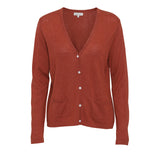 NEWS Silk/Cashmere cardigan - Rust orange