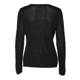 NEWS Silk/Cashmere O-neck - Black
