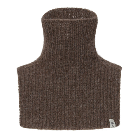 Wool Neck Warmer - Brown