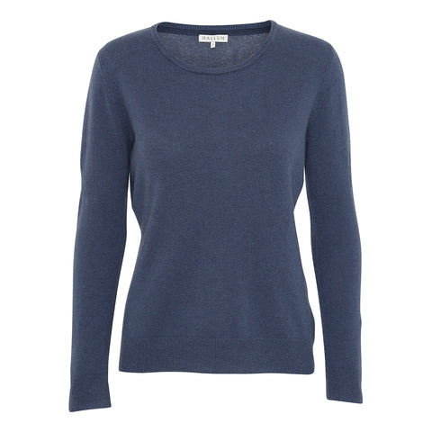Cashmere O-neck sweater - Blue