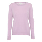 Cashmere O-neck sweater - Light pink