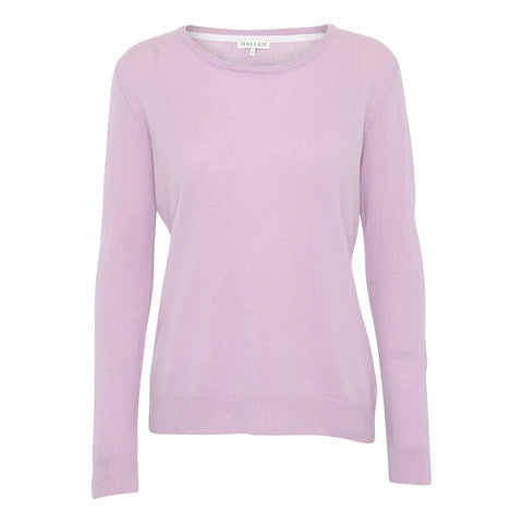 Cashmere O-neck sweater - Rose