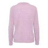 Cashmere sweater with rib pattern - Rose