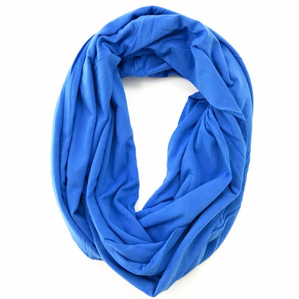 Blue Bamboo Travel Scarf  - Pocket Scarf - The Poppy Stock
