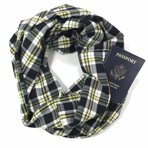 Plaid Infinity Travel Scarf