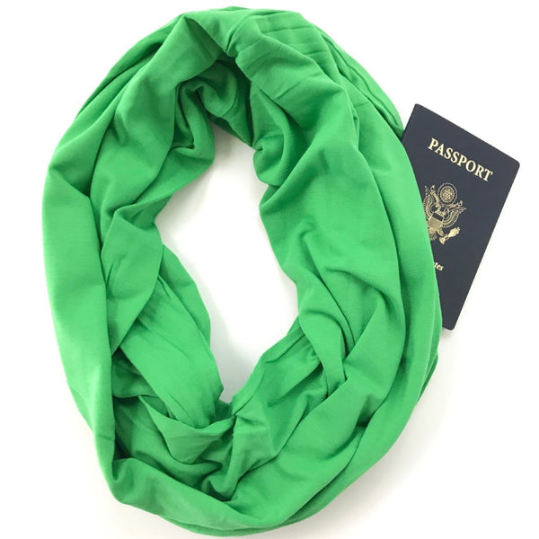 Kelly Green Bamboo Travel Scarf - Organic Cotton - The Poppy Stock