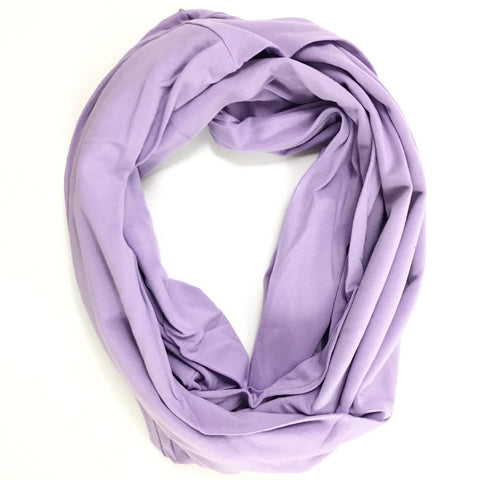 Lavender Bamboo Travel Scarf  - Pocket Scarf - The Poppy Stock