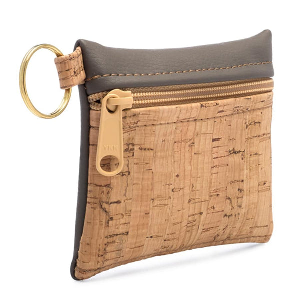 Cork Zipper Wallet - Cork - The Poppy Stock