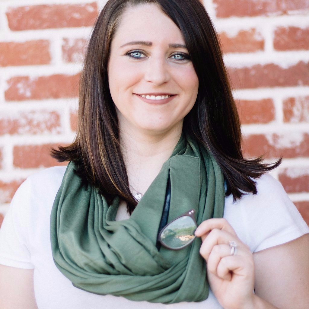 Olive Green Jersey Infinity Pocket Scarf - Travel Scarf