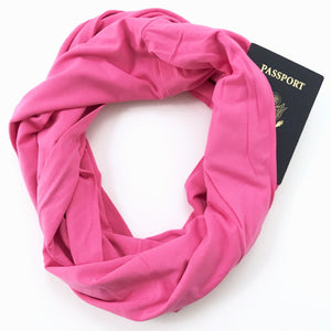 Pink Bamboo Travel Scarf  - Breast Cancer Scarf - The Poppy Stock