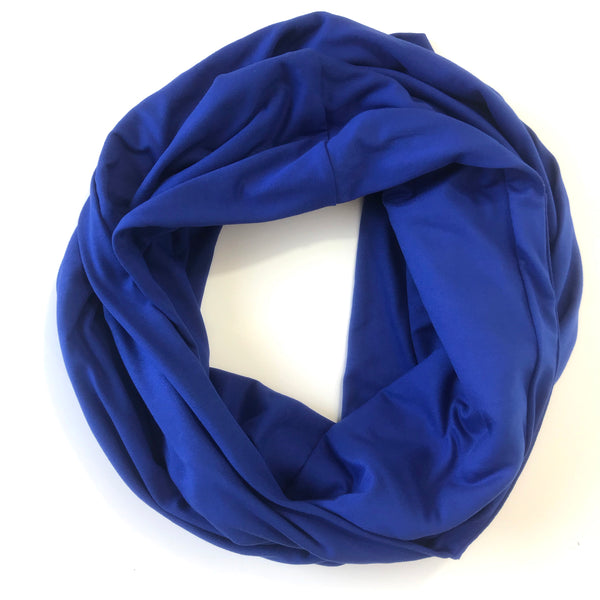Royal Blue Infinity Pocket Scarf - Travel Scarf - The Poppy Stock