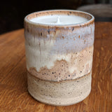 Hand-poured Soy Candle in Pottery - Staving Artist Woodwork
