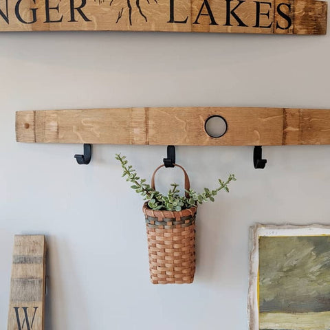 Barrel Stave Clothes/Towel Rack - Staving Artist Woodwork