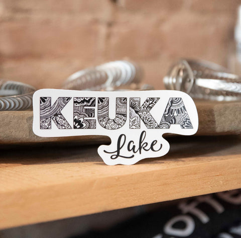 Keuka Lake Sticker - Staving Artist Woodwork