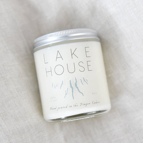Lake House Candle ~ 8oz - Staving Artist Woodwork