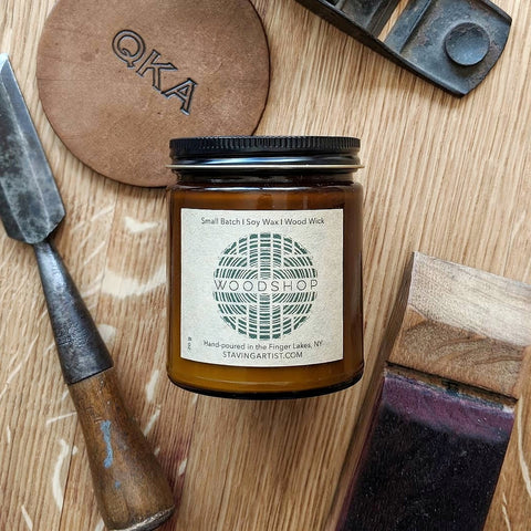 WOODSHOP - Hand-poured Soy Candle - Staving Artist Woodwork
