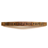 COFFEE, LAKE, WINE, REPEAT  Wine Barrel Stave - Staving Artist Woodwork