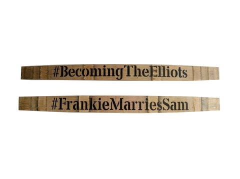 Wedding Hashtag Custom Painted Barrel Stave