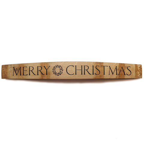 MERRY CHRISTMAS Wine Barrel Stave