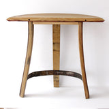 1/3 Barrel Head Demi Lune Table - Staving Artist Woodwork
