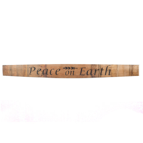 PEACE ON EARTH Wine Barrel Stave - Staving Artist Woodwork