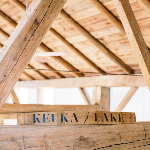 KEUKA LAKE Wine Barrel Stave - Staving Artist Woodwork