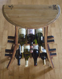 Demi-Lune Wine Rack Table - Staving Artist Woodwork