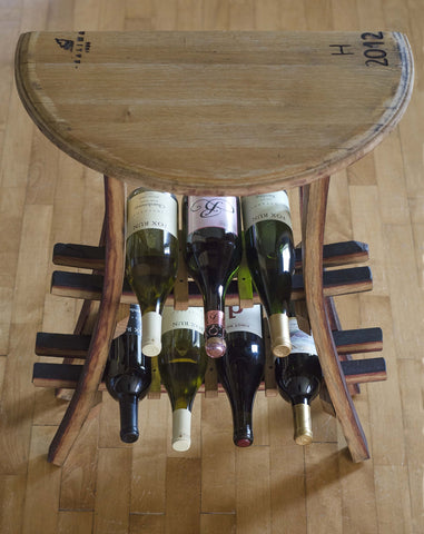 Demi-Lune Wine Rack Table