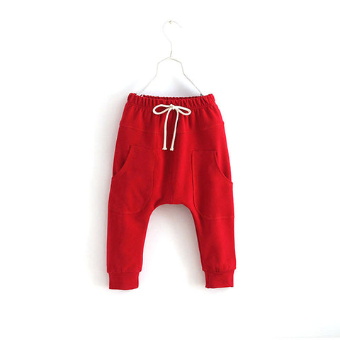 Sporty Harem Pants - Red