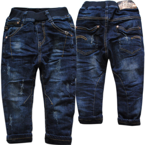 Denim and Fleece Thick Winter Jeans