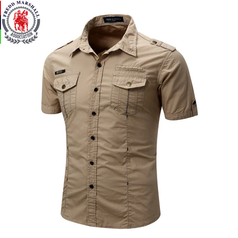 Fredd Marshall Casual Cargo Shirt