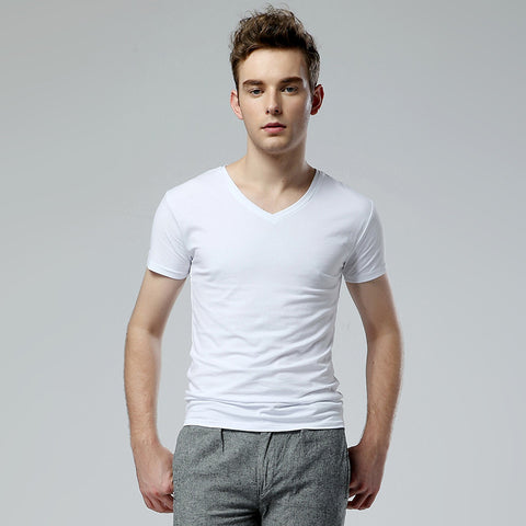 Men's Short Sleeve Basic T-Shirt - White