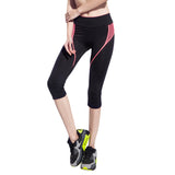 Sports Tights (3/4 Length) - Green Design